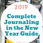 Bullet Journal - New Year Writing Prompts and Ideas. Find more focus in your life for greater balance and productivity with a journal.