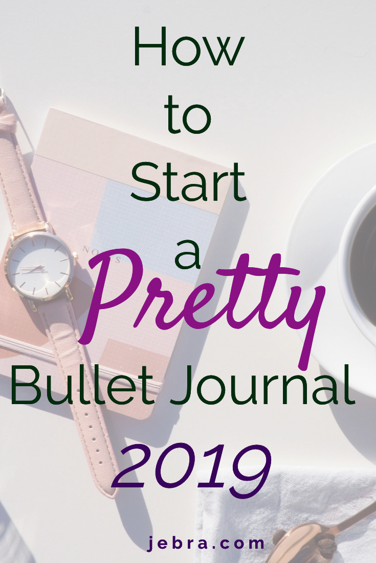 Start a Pretty Bullet Journal in 2019. Sure you can journal for productivity, too. Learn everything you need to know to start a bullet journal as a beginner.