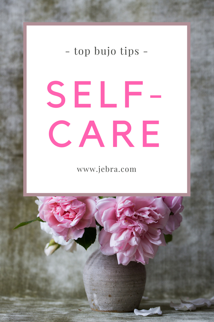 Bullet journal your way to self-care and improved health. Tips and ideas for bujo page spreads, habit trackers, and prompts.
