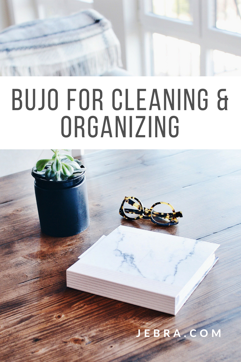 Bullet journal for cleaning and organization ideas and tips I #organization #cleaning