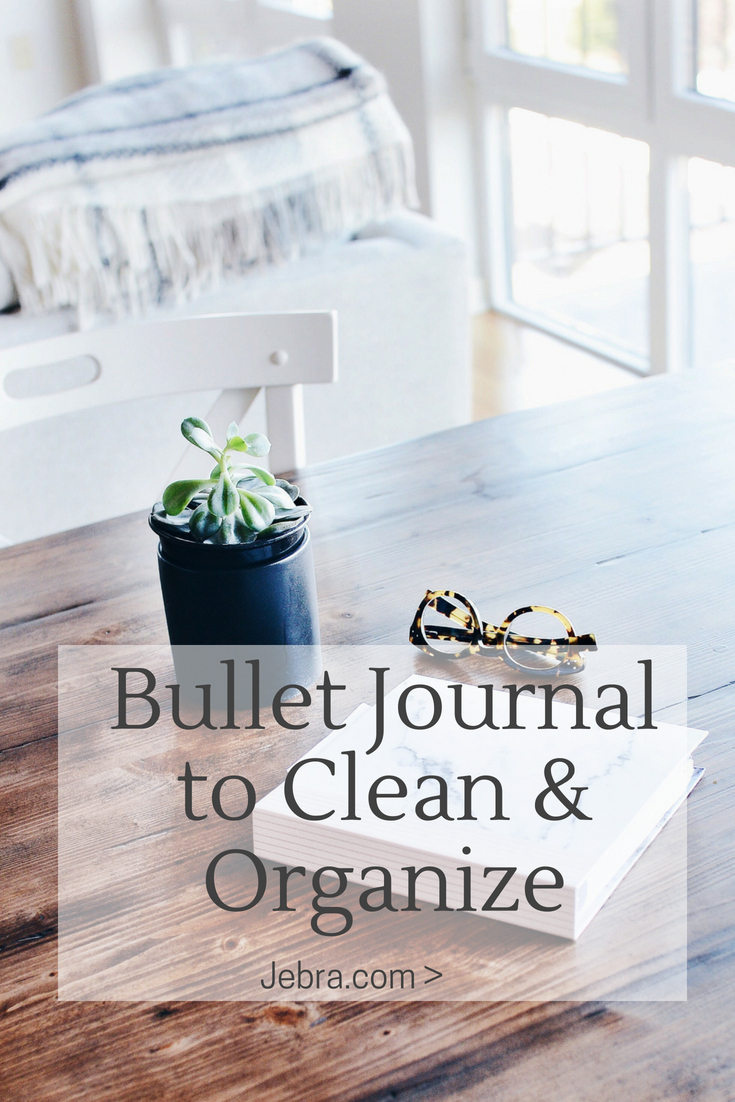 Bullet journal trackers and pages to help you clean and organize your home.