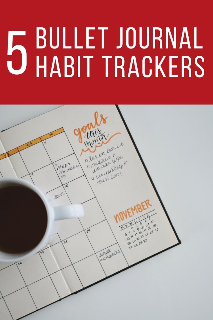 How to use trackers in a bullet journal for goal setting to habit or mood management.