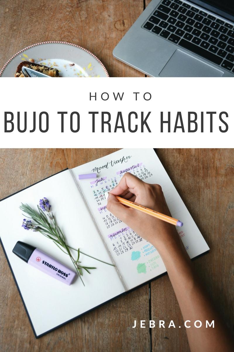 Bullet journal habit trackers.