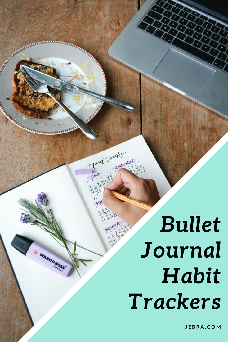 How to track habits in a bullet journal, including moods.