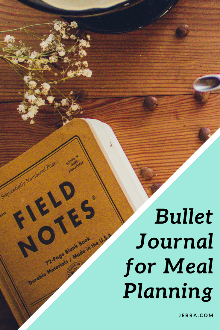 Tips for bullet journaling your meal plans, with layouts and spreads, checklists, printables, and reusable grocery lists.