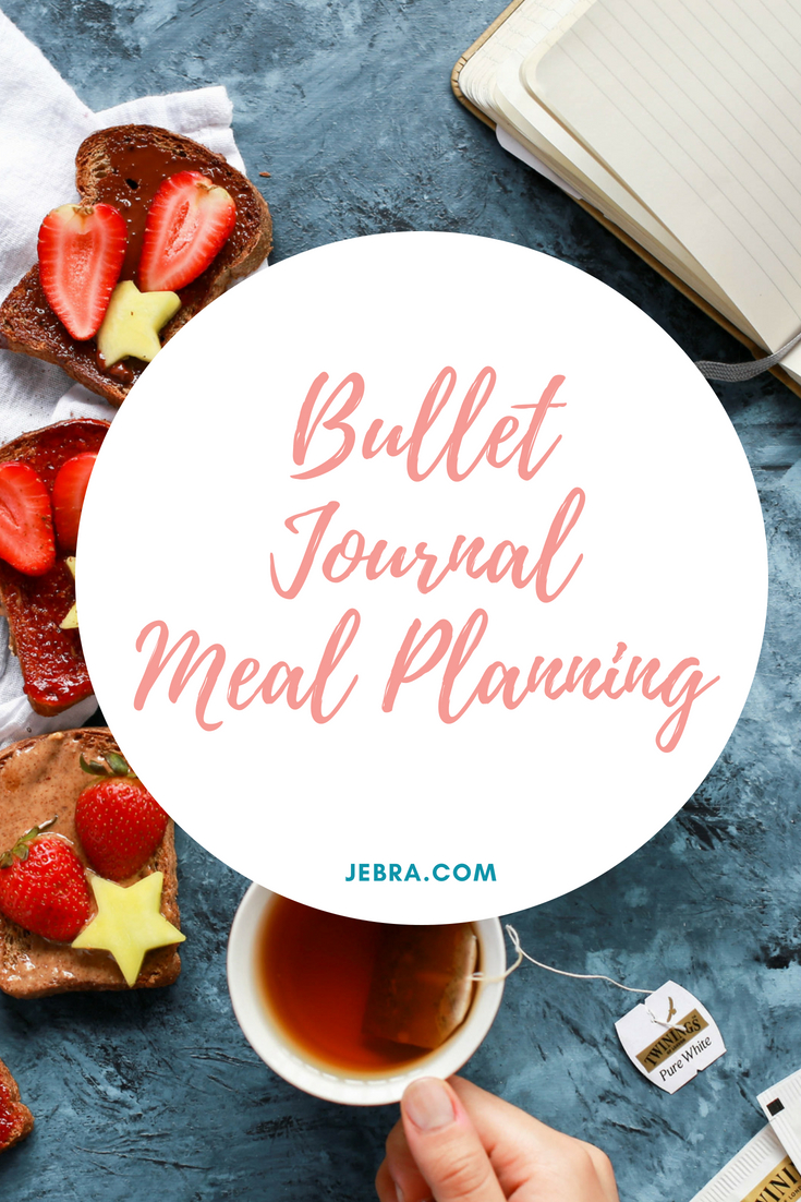 How to meal plan in your bullet journal, notebook, or planner for clean eating.