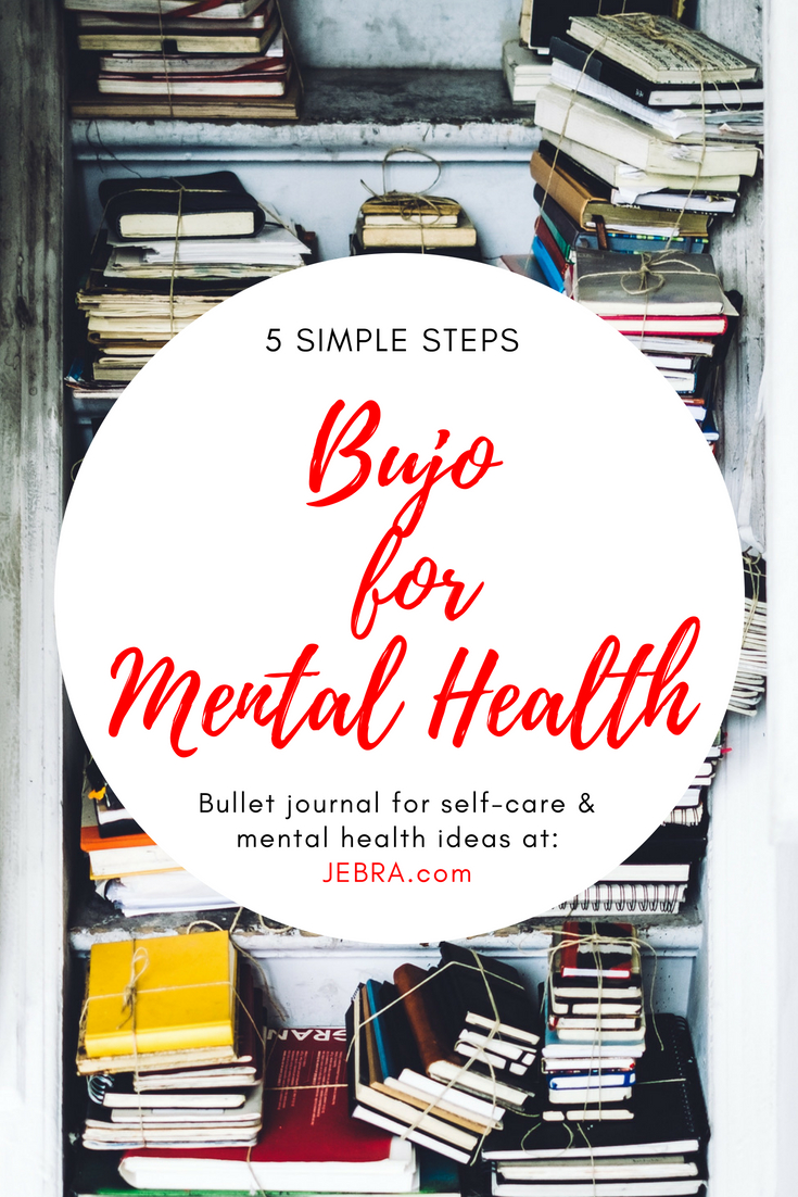 Bullet journaling for mental health and self-care, including tracker pages, ideas, and layouts.