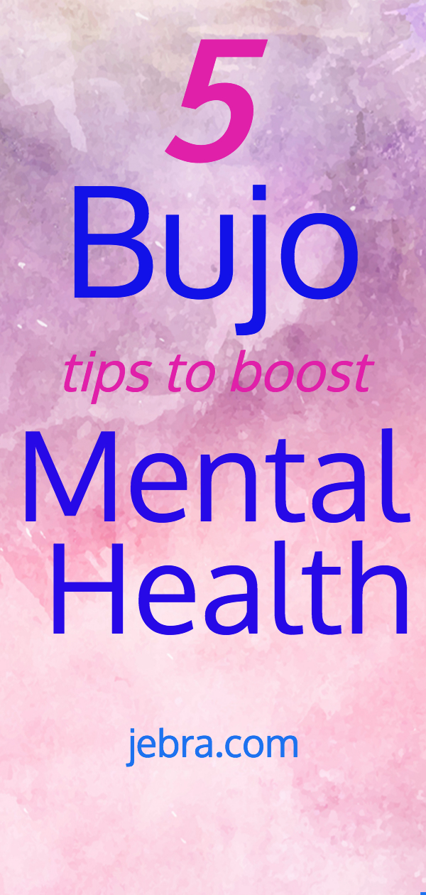 Bullet journal tips to boost mental health and self-care, including tracker pages, ideas, and spreads.