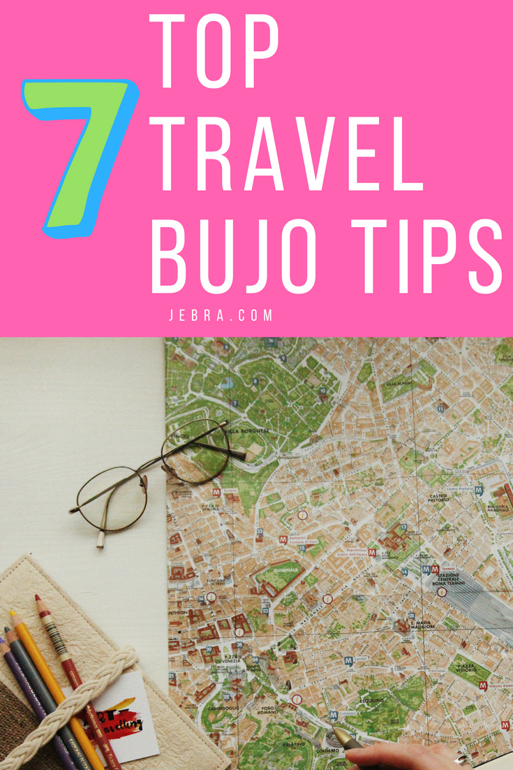 Traveling? Try these genius ideas and tips for bullet journaling on the road.