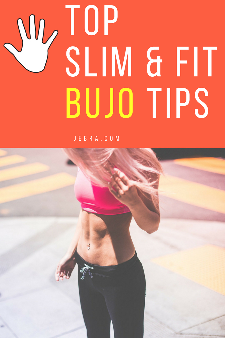 Get 5 genius ideas for getting slim and fit with a bujo. Tips, tricks, and printables for weight loss.
