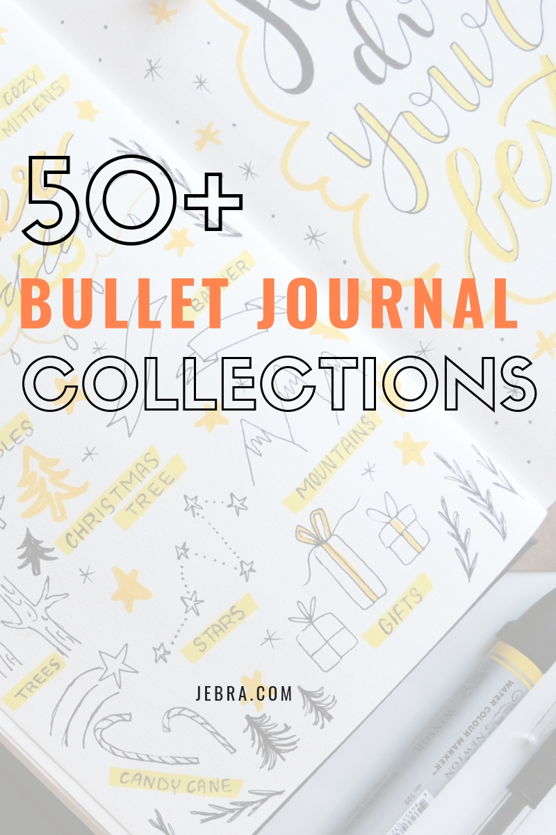 Get 50 amazing bullet journal collection ideas.