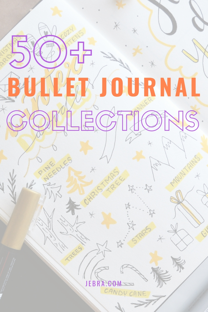 Want 50+ collection ideas for your bullet journal? Find genius ideas for several of the most crucial categories, like health and self-care.