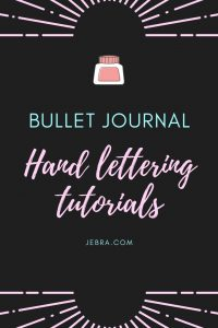 Here's how to learn hand lettering with free video tutorials for bullet journalists. Includes calligraphy, faux lettering, and brush lettering.