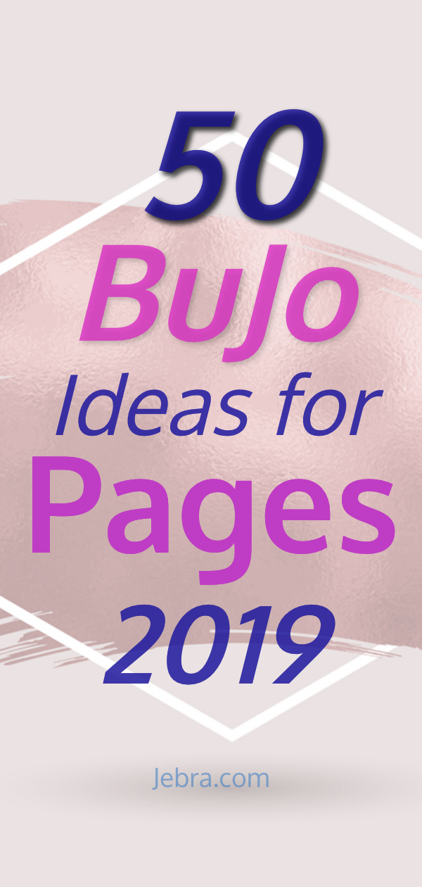 Bullet Journal Collections - Bullet Journal Inspiration for Pages to Try in Your BuJo in the New Year - 50 Must Have Bullet Journal Collection Ideas for 2019 #bulletjournal #bujo