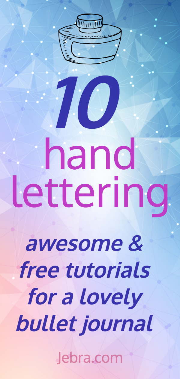 Watch these awesome free lettering tutorials for bullet journalists and master hand lettering.