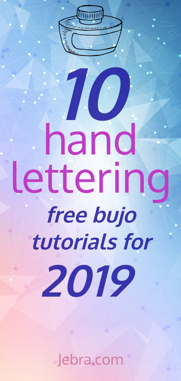 Bullet Journal Hand Lettering Tutorials - How To Do Calligraphy In Bullet Journals - Learn How To Hand Letter In Your Bujo #handlettering #lettering #calligraphy #bulletjournal #bujo