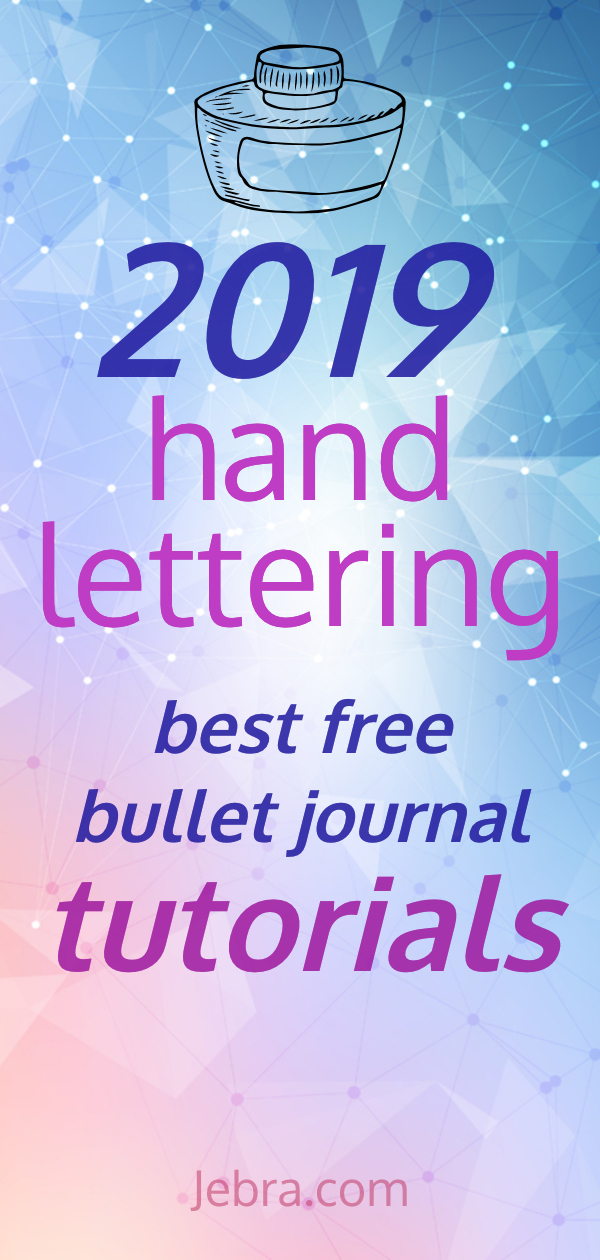 Bullet Journal Lettering & Calligraphy Tutorials - How To Do Bruch Lettering In Bullet Journals - Learn How To Hand Letter In Your Bujo #handlettering #lettering #calligraphy #bulletjournal #bujo
