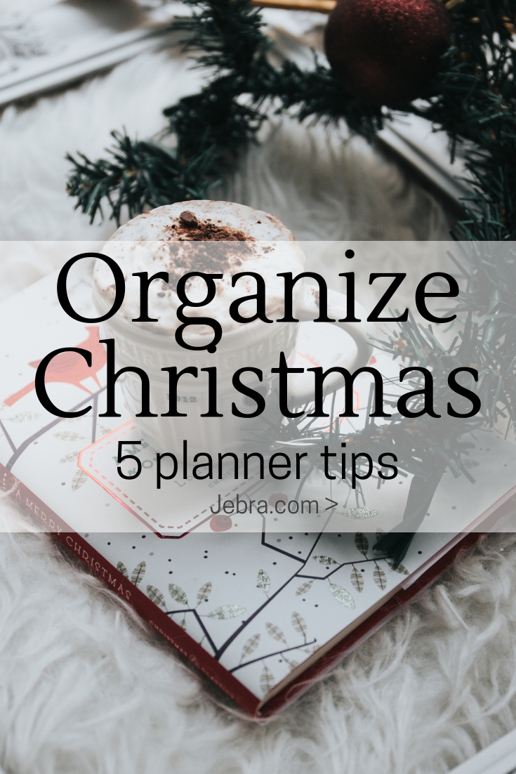 Holiday planning ideas in your  planner or bullet journal to reduce stress and save your sanity.