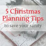 Early Christmas planning ideas for your notebook planner or bullet journal.