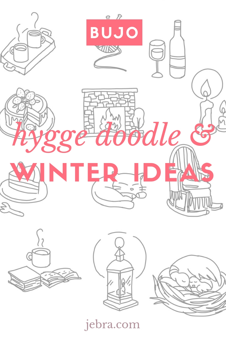 Bullet Journal Hygge Winter Doodles and How To Decorate Your Bujo. Doodle Ideas To Try for Each Season, All Year. #bulletjournal #bujo #bujodoodles