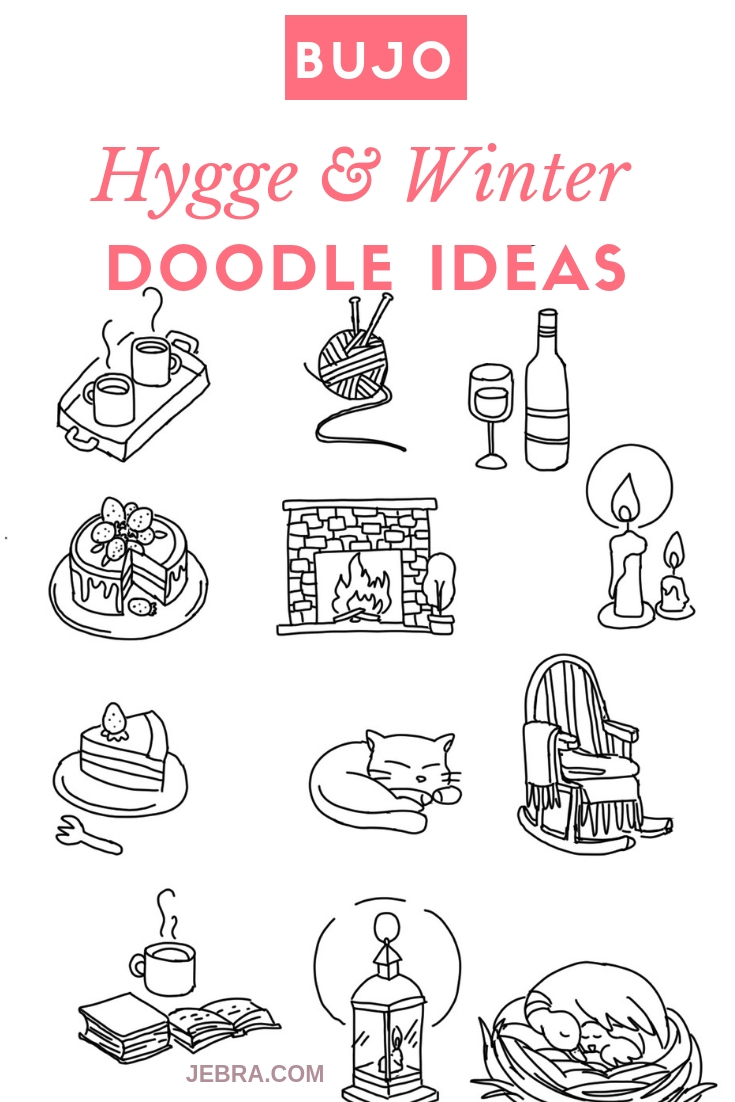 Bullet Journal Hygge Doodle Ideas - Winter Doodles and Decorations For Your Bullet Journal - Hygge Doodles For Your Bujo #bulletjournal #bujo #doodles