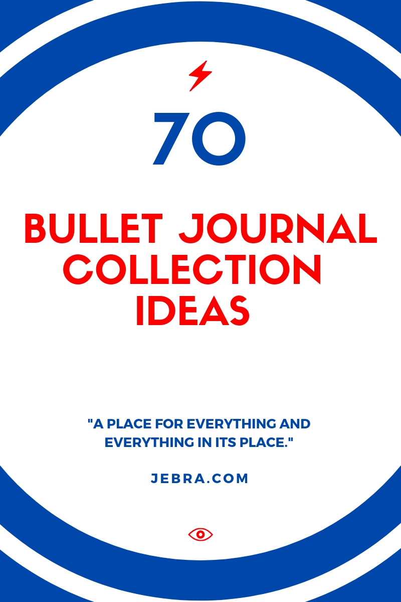 """Bullet Journal Collection Ideas - Want to collect everything under one umbrella so you can find that info and ideas later? Here are the best """"collection"""" ideas for health, finance, family, etc."""