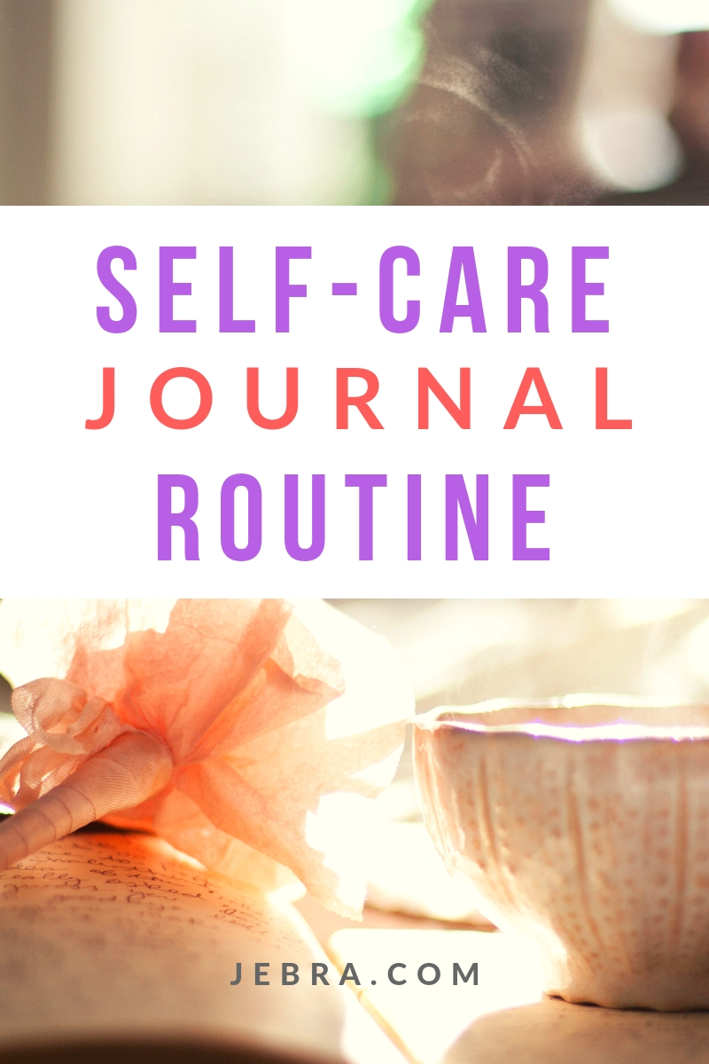 Would you like a ritual for self-care in your journal? Here are 4 rituals for you in the evening.